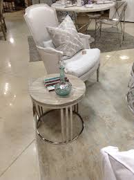 home s sofa and side tables round roman numeral end table