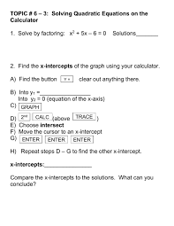 3 solving quadratic equations on the