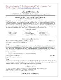 Day Care Resume Sample Resume Child Care Worker Child Care Resume Child Care Worker