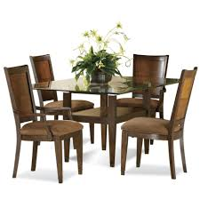 glass dining room table with diffe color chairs home dining table with chairs and bench