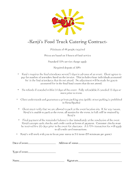 Food Truck Catering Service Contract Templates At