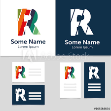 Name Card Inspiration Editable Business Card Template With R Letter LogoVector