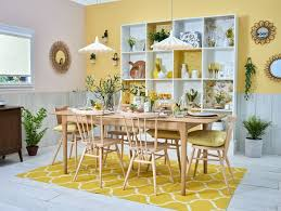 decorating your dining room. Simple Room Decorate Your Dining Room With Shades Of Bright Buttercup Retro Prints And  Midcenturyinspired Wooden Furniture In Decorating Your Dining Room E