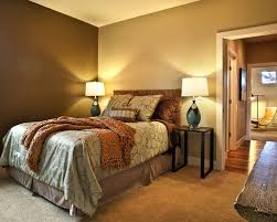 earthy bedroom ideas. traditional bedroom idea in portland with brown walls and carpet - earthy ideas d