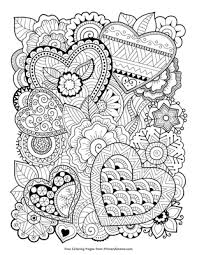 Print zentangle coloring pages for free and color our zentangle coloring! Zentangle Hearts Coloring Page Free Printable Pdf From Primarygames