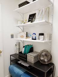 tiny office design. Tiny Black, White, And Gold Office Transformation | Glam Under 50 Sqft Design E