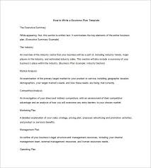 Business Plan Outline Template 23 Free Sample Example