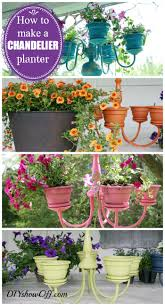 how to make a chandelier flower planter