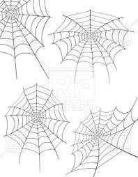 Spider Web Illustration Isolated On White Background Vector