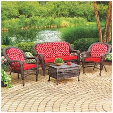 attractive wilson fisher patio furniture wilson fisher tahoe spring rocker chair 6 piece dining set at