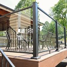 Types of deck railings Balusters Types Of Glass Railings Fortress Railing Diy Glass Railings Installing Glass Railing On Your Deck Is Easy