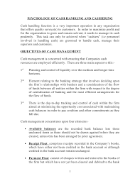 psychology of cash handling and cashering .