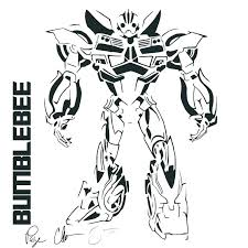 Transformer Coloring Pictures Bumble Bee Transformer Coloring Page