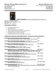 Homey Sports Administration Sample Resume Unbelievable Com