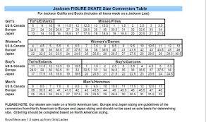 Jackson Ice Skate Size Chart Www Bedowntowndaytona Com