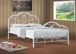 Alexis 4ft 4ft6 & 5ft white metal bed frame bedstead