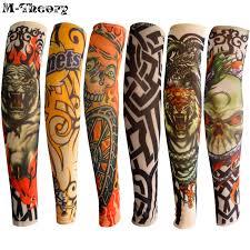 M Teorie 6 Ks Dětská Velikost Rameno Rukávů Tattoo Punčochy Legíny Cool Rock Style 3d Tatoo Boys Dívky Baby Sprchové Cestovní Oblečení