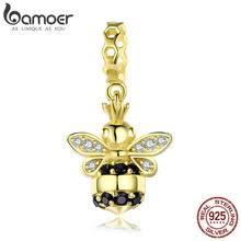 BAMOER популярные <b>браслеты</b> с подвеской в виде пчелы, из ...