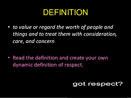 answer the question being asked about respect definition essay definition essay self respect