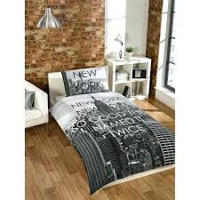 new york city bedding scene single duvet set cover print