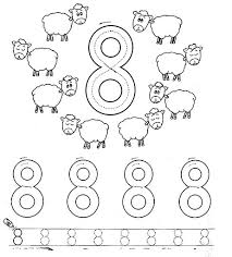 Small Picture Number 8 eight tracing and coloring worksheets Crafts and