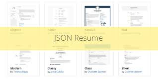 JSON Resume A JSON Powered Standard For CV Creation Bypeople Cool Json Resume