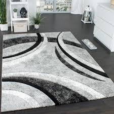 designer carpet in grey black 001