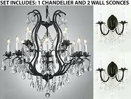 three piece lighting set wrought iron crystal chandeliers h gallery chandelier wall sconce candle x a chandelier wall