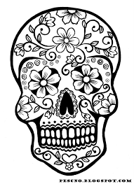 Small Picture Mexican Skull Coloring Pages GetColoringPagescom