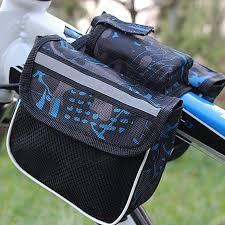 Cycling <b>Bike Bicycle</b> Front Top <b>Frame Tube Bag</b> Pannier <b>Pouch</b> ...