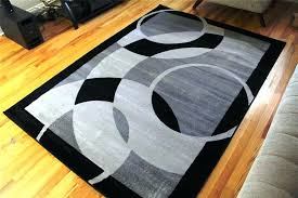 image of black and gray area rug modern rugs 8x10 mid century