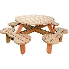 brackenstyle orbit round pine garden picnic table 110cm