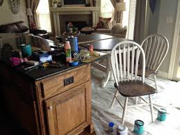 Kitchen Table Makeover Using Chalk Paint And Wood Stain Love Our