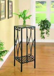 wrought iron furniture indoor. black metal scroll square plant stand coaster furniture indoor stands a dimensions x wrought iron