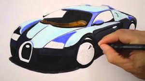 Dessin Au Fusain Technique Bugatti Voiture L Art Du Dessin Au