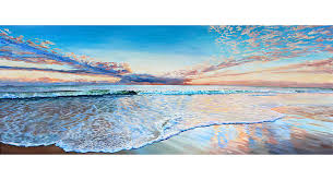 an original oil painting cottesloe beach sunset awash by brian carew hopkins