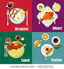 Breakfast Lunch And Dinner Chart 1000 Breakfast Lunch Dinner Stock Images Photos Vectors