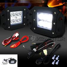 2pc 6 led spot beam off road fog lights wiring harness switch kit click to enlarge
