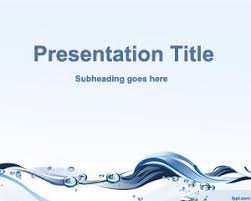 wave powerpoint templates free water conservation powerpoint template