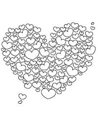 A Giant Heart Shaped Cloud On Valentines Day Coloring Page