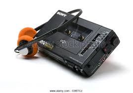 sony walkman cassette player. sony walkman personal stereo cassette player professional recorder d6c - stock image