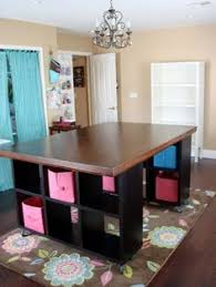 make your own office desk. artful leigh craft room clever how she made the large table with 2 cabinets and her own top i mine organizers from closet make your office desk j