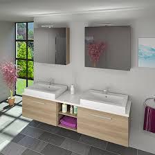 Badmöbel Set City 306 V1 Eiche Hell Badezimmermöbel Waschtisch 200cm