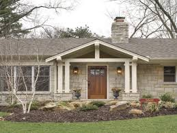 Ranch House Curb Appeal Front Porch Designs Ranch Style House Latest Decks Brick Front