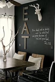 reclaimed wood eat sign on a chalkboard wall