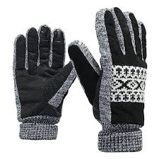 thickening warm leather gloves touch screen for motorcycle cycling skiing skateboard men 4 cod