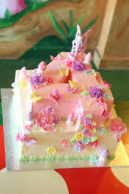Buttercream Birthday Cakes For Girls With Flowers And Butterflies