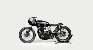 hookie co creates the black mamba out of a 1973 honda cb550 dresden based motorcycle