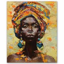 wholesale high quality wall decoration canvas art african women portrait oil painting on african woman wall art with wholesale high quality wall decoration canvas art african women