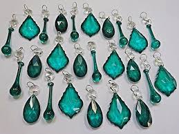 20 emerald green chandelier drops transpa chandelier drops parts cut glass crystals droplets beads tree